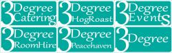 3Degree Catering and Events Peacehaven Logo